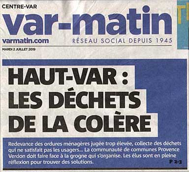 Article de Var Matin